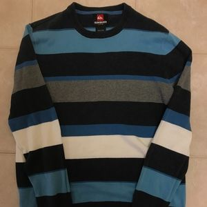 Quiksilver Crewneck Striped Sweater (Mens S)